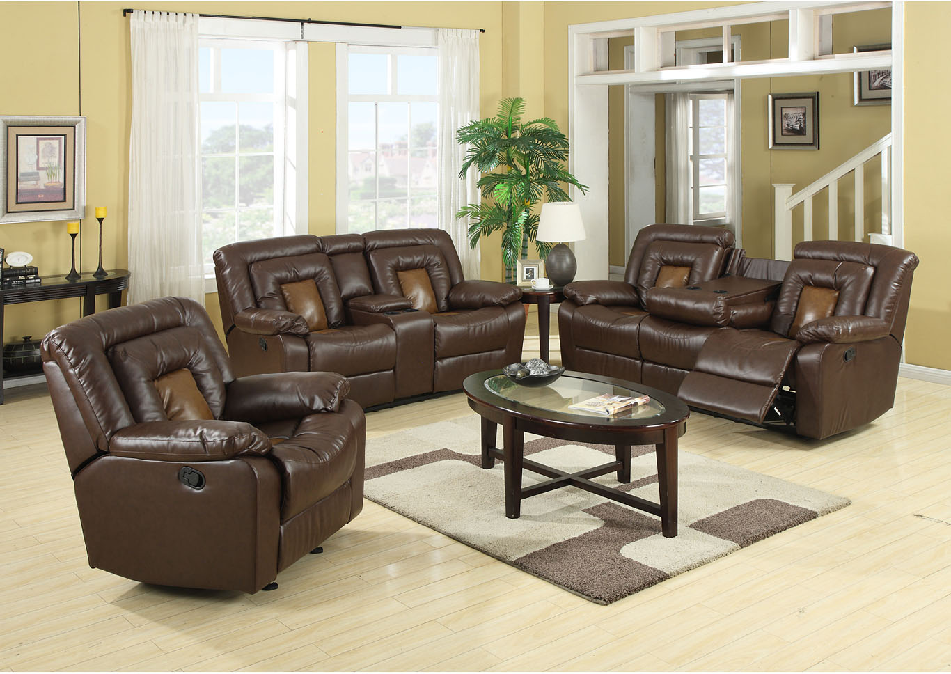 Cobra Brown Reclining Sofa,Global Trading
