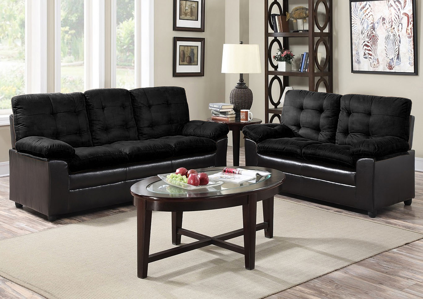 Deals More Furniture Philadelphia Pa Black Microfiber Sofa And