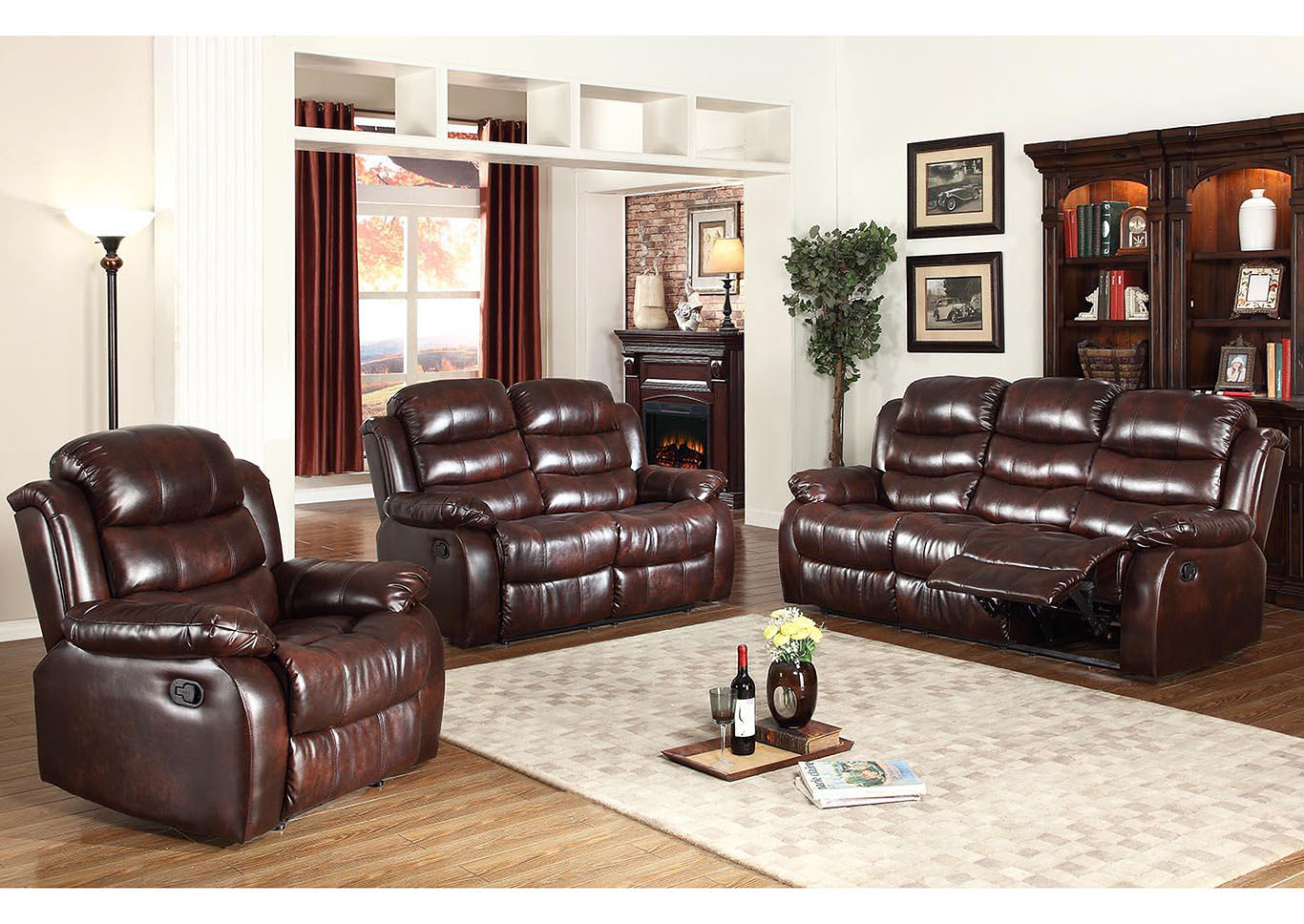 Deals More Furniture Philadelphia Pa Brown Leather Reclining