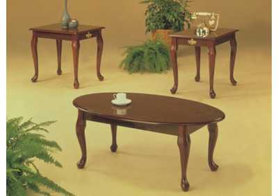 Big Al S Furniture 3pc Cherry Queen Anne Coffee End Table Set