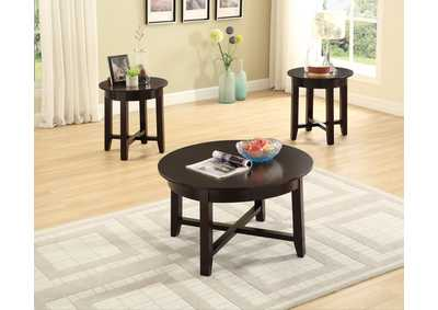 Brown 3 Piece Coffee & End Table Set