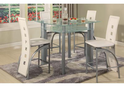 Image for Grey Frosted Edge Glass Top Pub Table