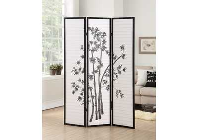 Image for Black 3 Panel Room Divider