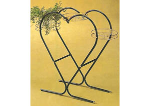 Heart Shaped Plant Stand Black