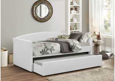 White Polyurethane Daybed w/Trundle