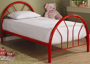 Red Twin Tube Bed