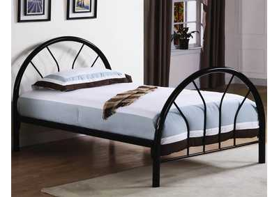 Black Twin Tube Bed