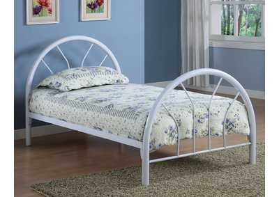 White Twin Tube Bed
