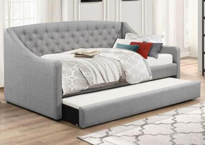 Grey Trundle Bed