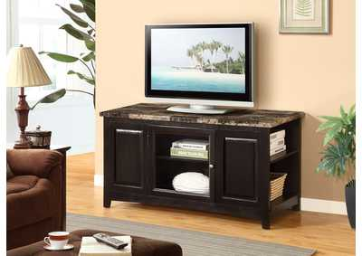62'' Cappuccino Artificial Marble Top TV Stand