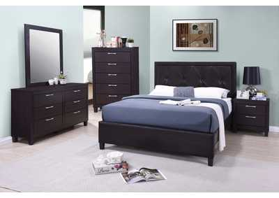 Tripton Dark Grey Panel King Bed