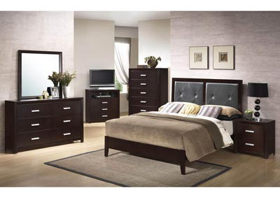 5 Piece Cappuccino Panel Bedroom Set