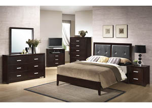 Cappuccino King Panel Bed