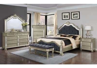 Silver Queen Poster Bed