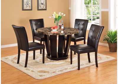 Round Faux Mable Dining Table