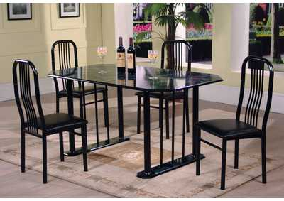 Black Welded Curve Back Chair (Set of 4)