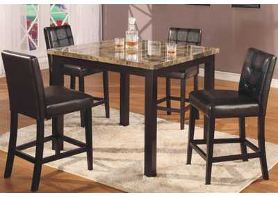 Image for Brown Square Faux Marble Pub Table
