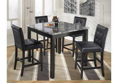 Grey/Black Pub Table : pub dining room table sets - pezcame.com