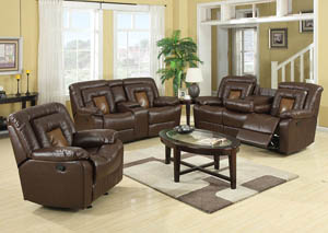 Cobra Brown Reclining Sofa, Loveseat, & Recliner