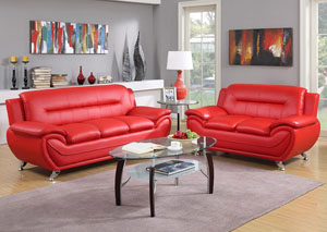 Red Sofa & Loveseat