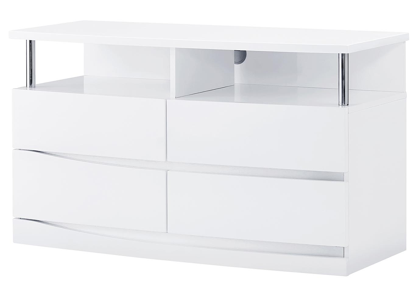 Aurora White Entertainment Unit,Global Furniture USA