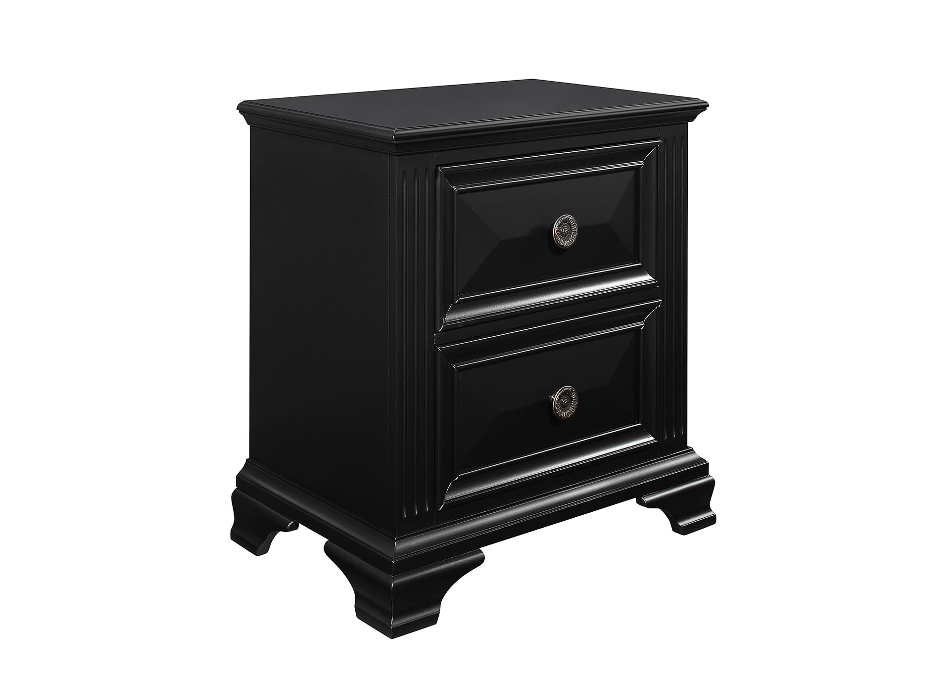Carter Black Nightstand,Global Furniture USA