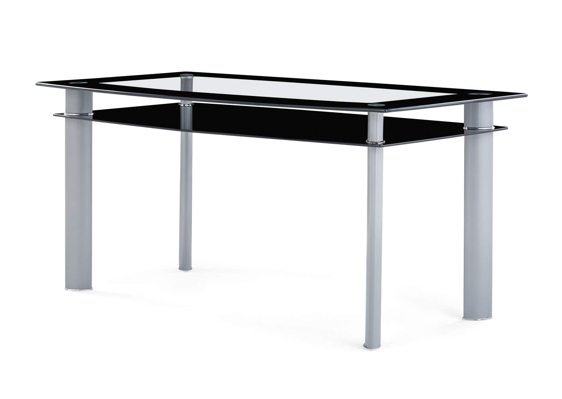 Black/Silver Dining Table,Global Furniture USA