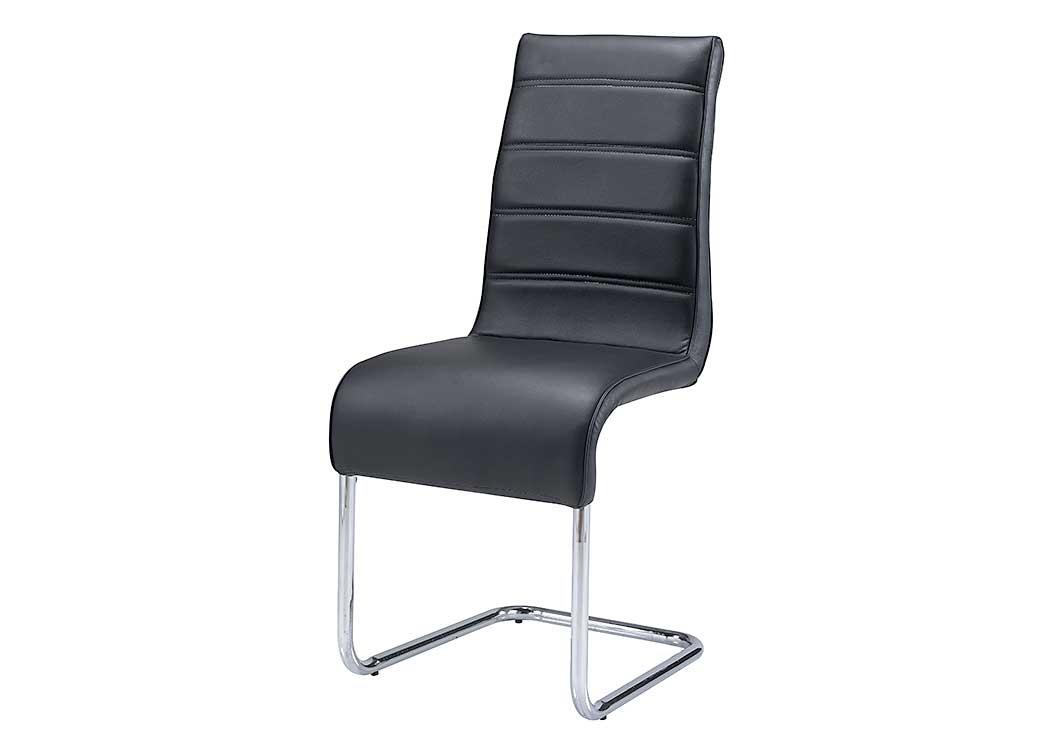 Black U0026 Chrome Dining Chair (Set Of 2),Global Furniture USA