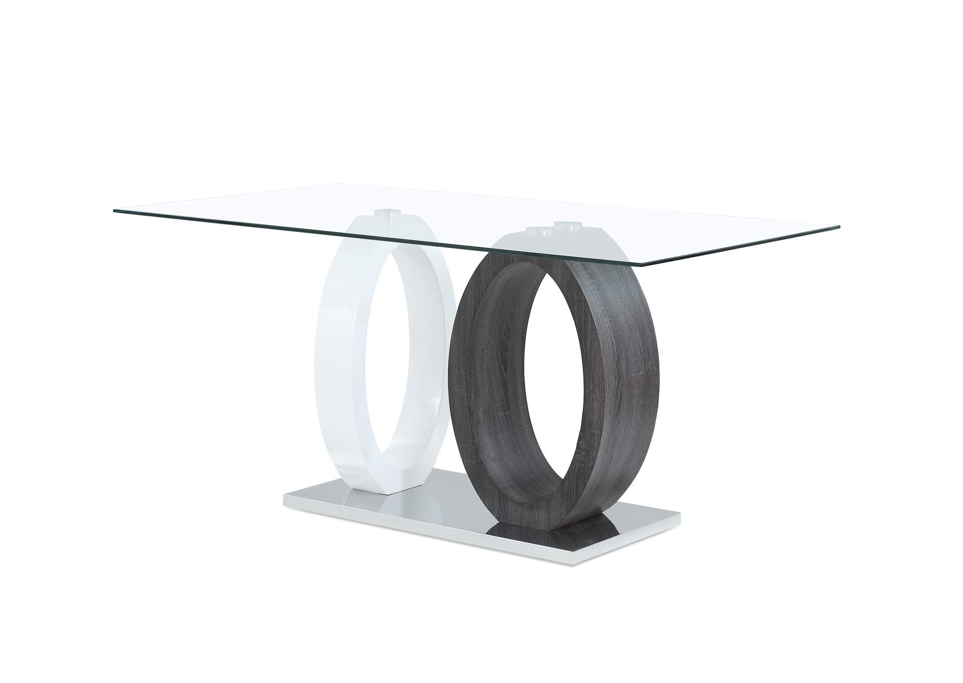 White/Grey Dining Table,Global Furniture USA