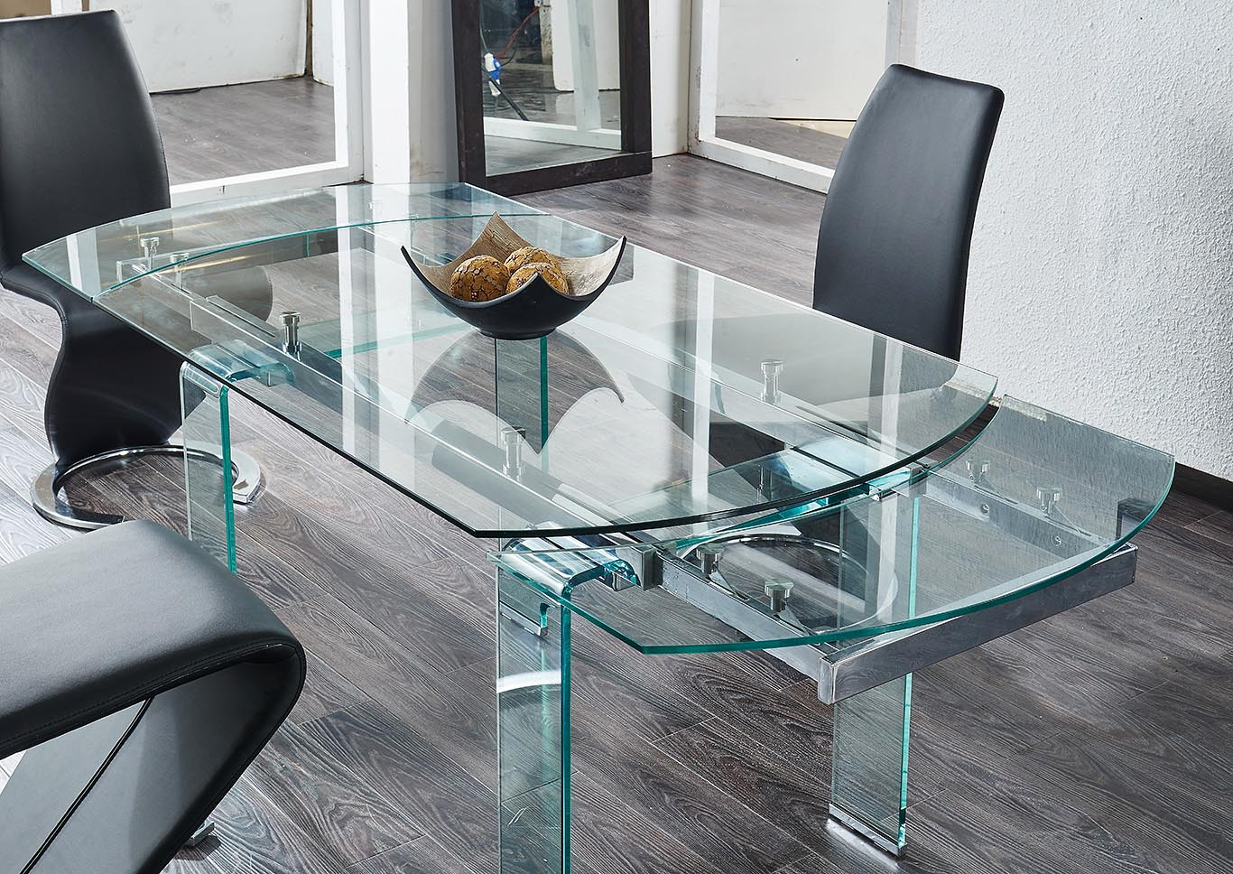 Clear glass dining tableglobal furniture usa