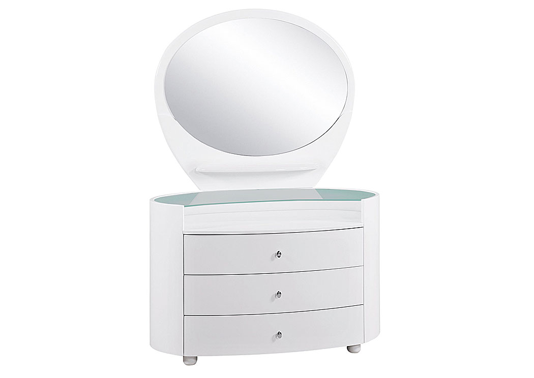 Find Outstanding Furniture Deals In Arlington Heights, IL Emily/Evelyn  White Youth Mirror