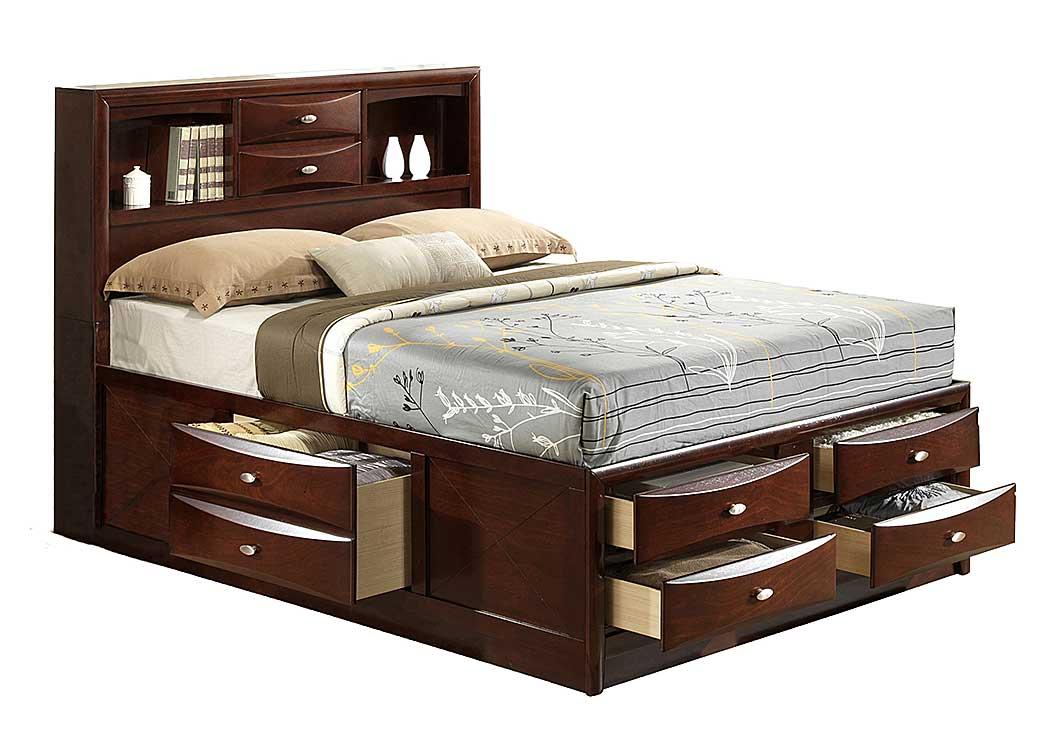 Beverly Hills Furniture Bronx Ny Linda Merlot Queen Bed