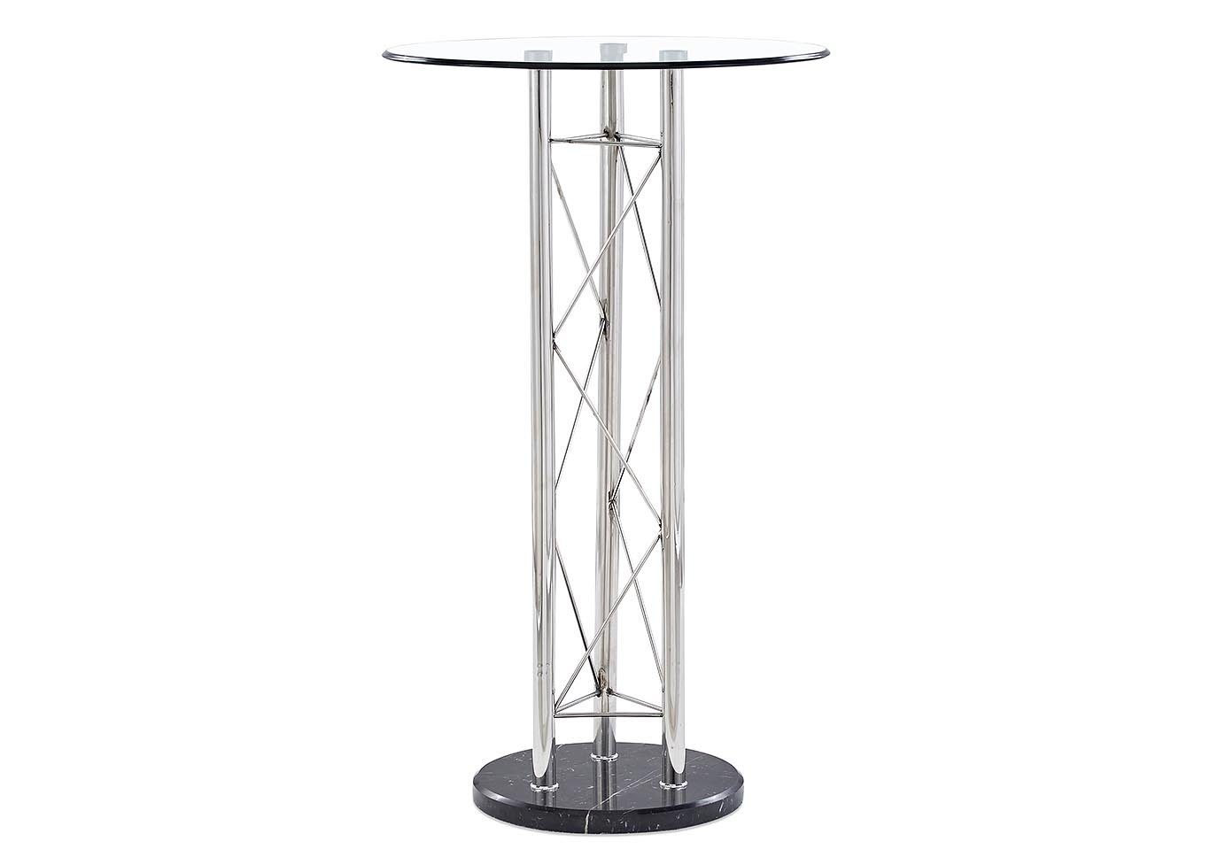 Clear/Black Bar Table,Global Furniture USA