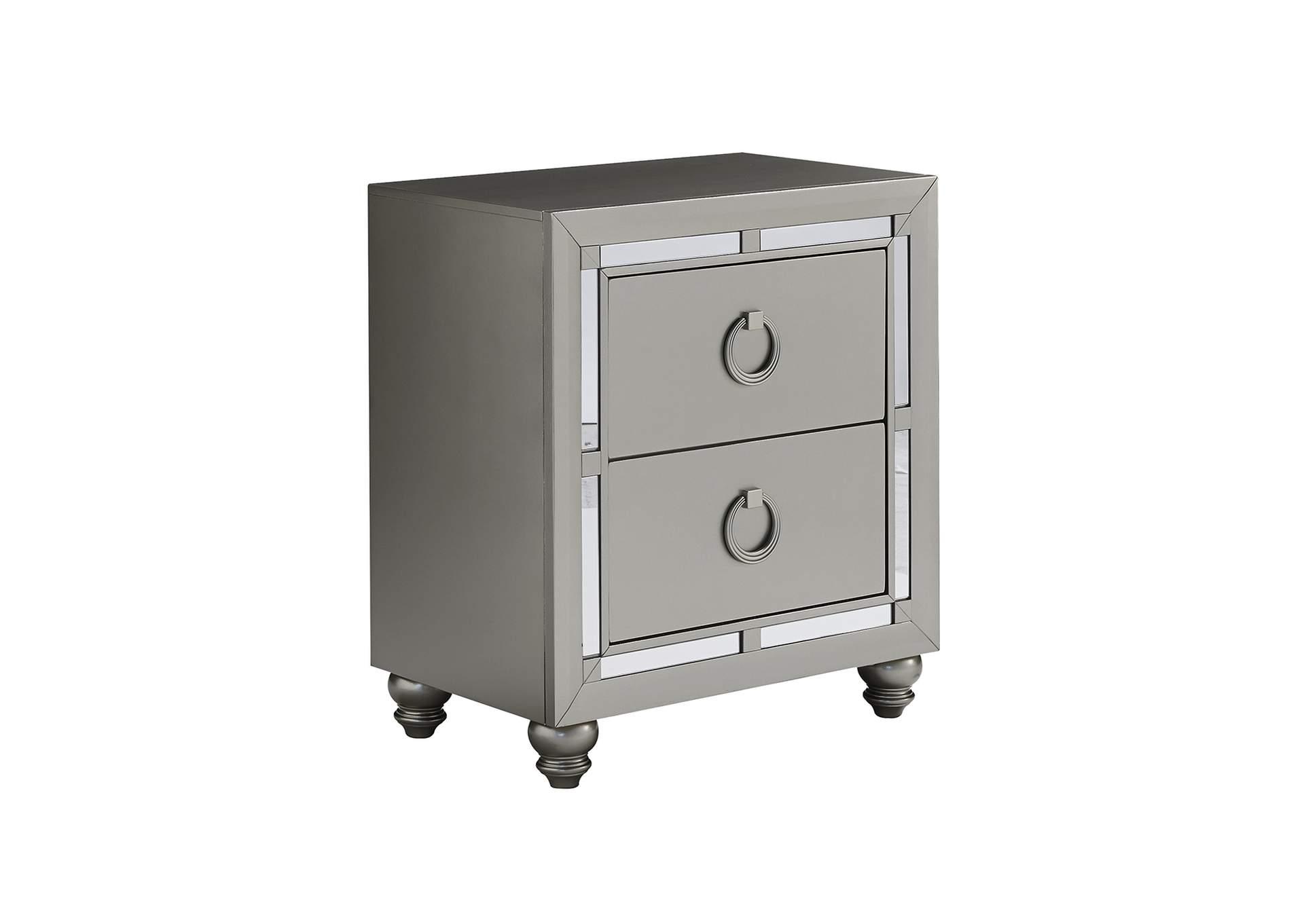 D N Furniture Scranton Pa Riley Silver Nightstand