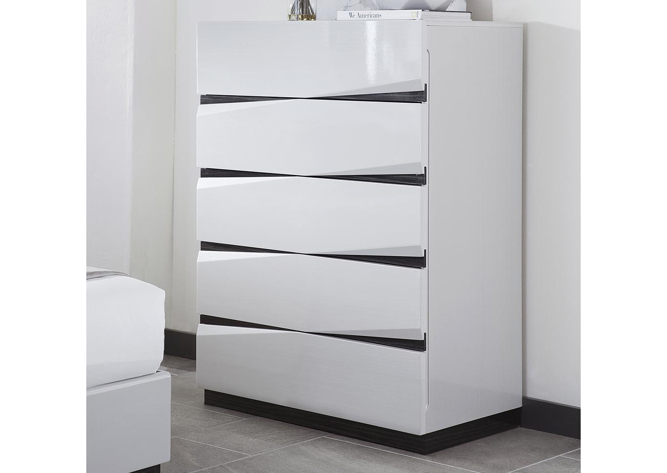 Scarlett Silverline/Zebra Grey Chest,Global Furniture USA