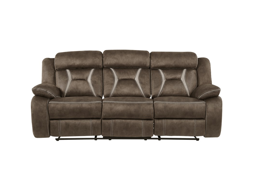 Sultry Dark Brown Reclining Sofa,Global Furniture USA