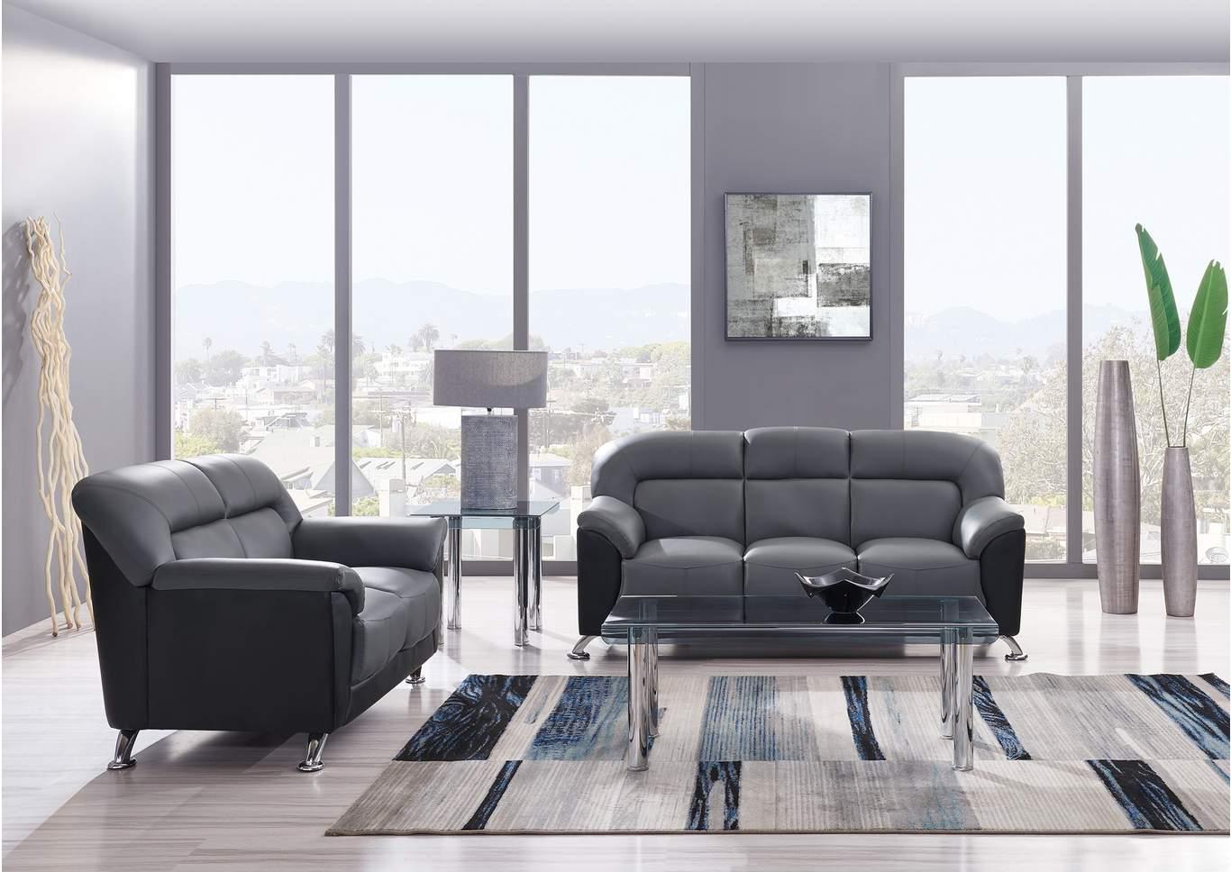 Excellent Sell A Cow Furniture Il Dark Grey Black Sofa Loveseat Machost Co Dining Chair Design Ideas Machostcouk