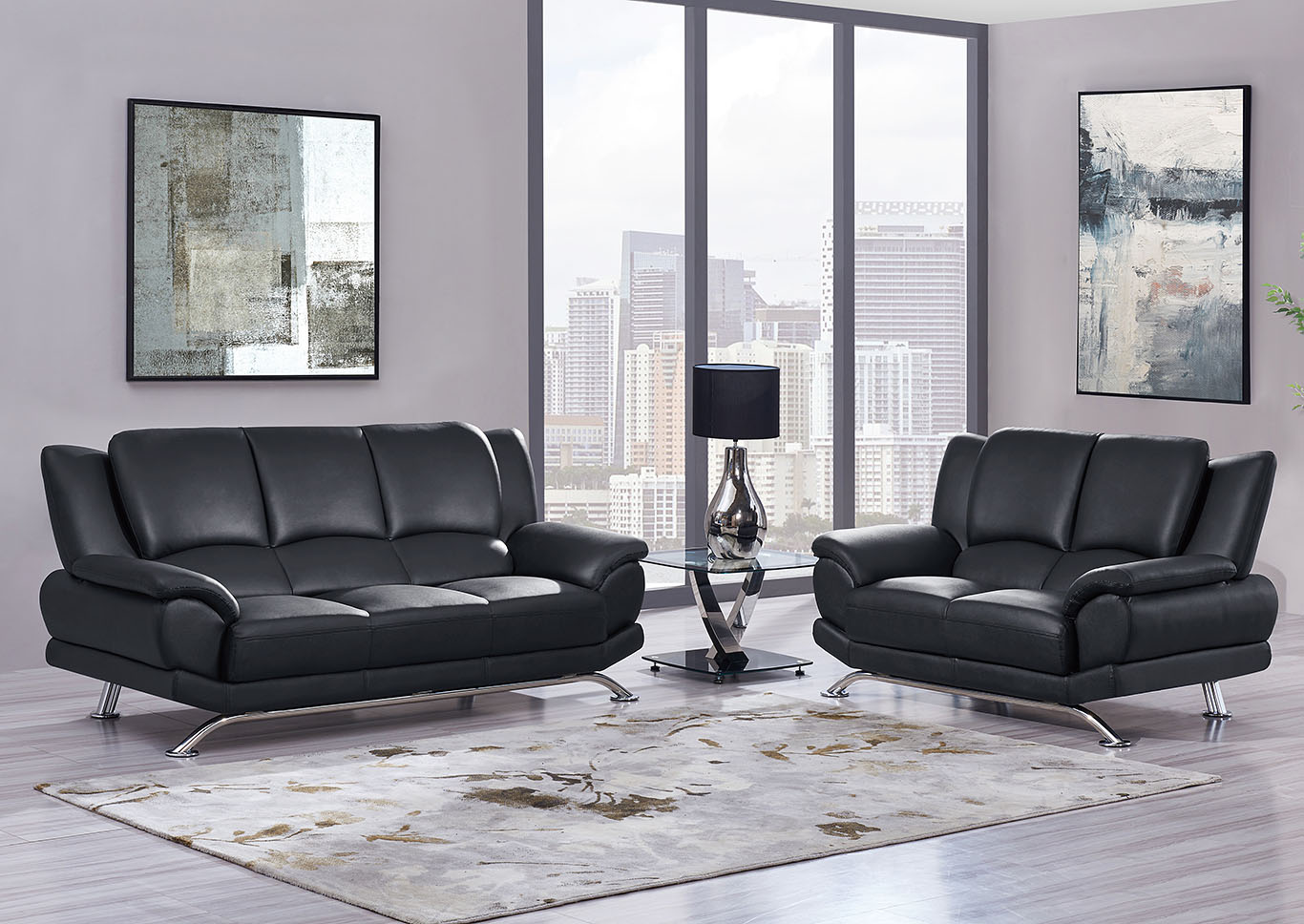 United Furniture Style - Springfield, PA Black Sofa ...