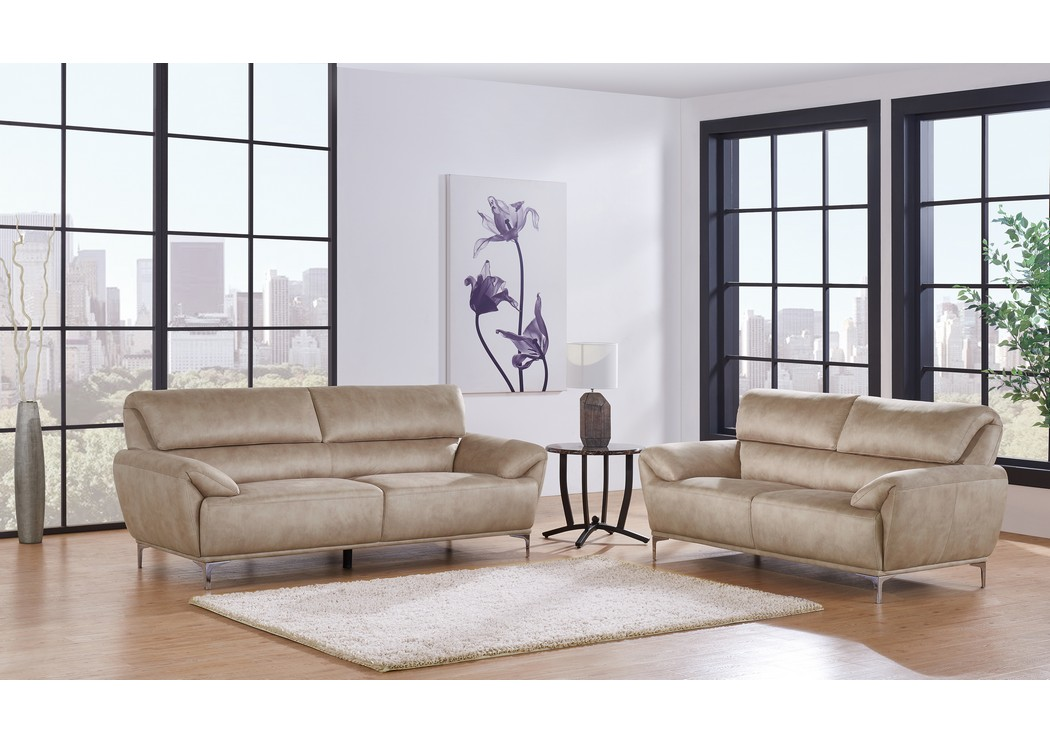 Cream Sofa And Loveseat,Global Furniture USA