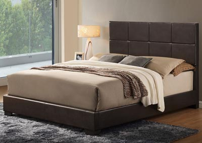 Brown Gloss King Platform Bed