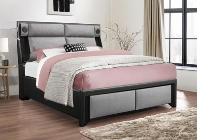 Image for 9652 Black W/Grey  King Bed