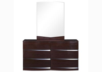 Aurora Wenge Dresser and Mirror