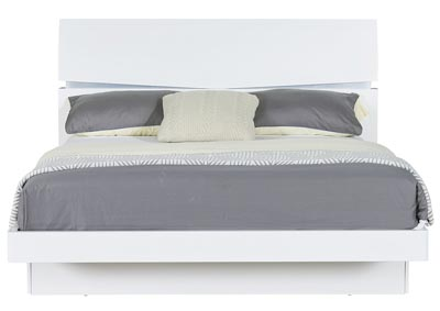 Aurora White Full Bed