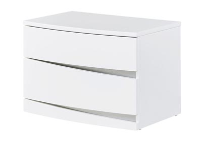 Aurora White Nightstand