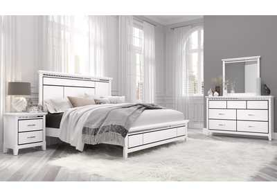 Image for White Queen Bedroom Set W/ Dresser & Mirror