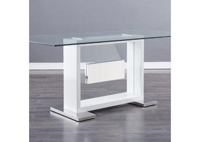 Image for D1182DT White High Gloss / Mirror Dining Table