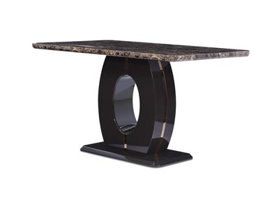 Brown Marble Bar Table