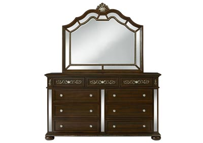 Image for Diana Brown Dresser and Mirror