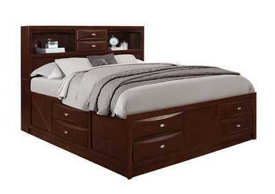 Linda Merlot Queen Storage Bed
