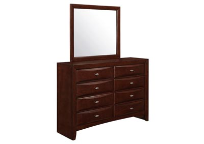 Linda Merlot Dresser and Mirror